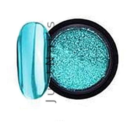 JUSTNAILS Mirror-Glow Nagel Pigment - Aqua Splash