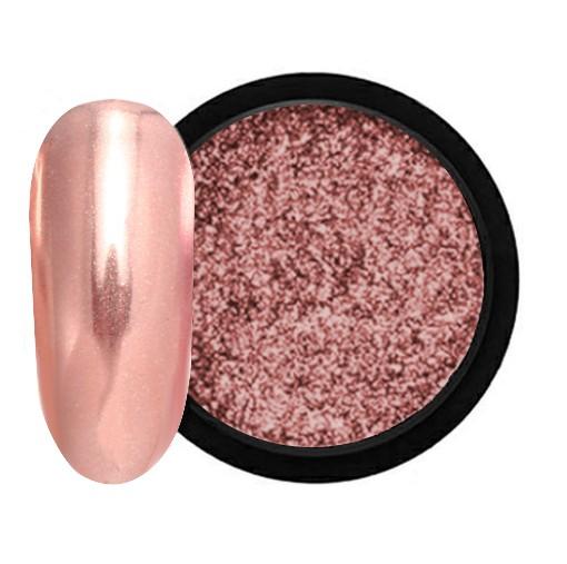 JUSTNAILS Mirror-Glow Nagel Pigment - Rosewood