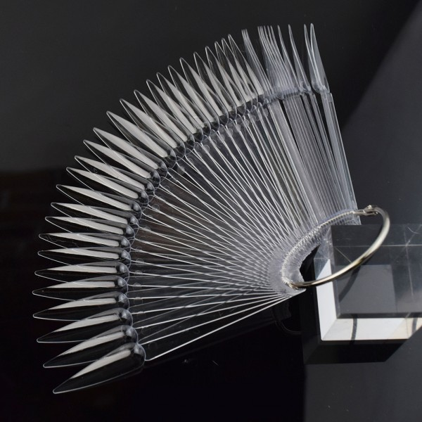 JUSTNAILS Display Tips Stiletto 50Stk. transparent